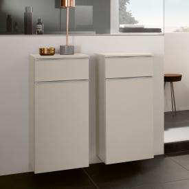 Villeroy & Boch Venticello side unit with 1 pull-out compartment and 1 door front soft grey / corpus soft grey, chrome handles