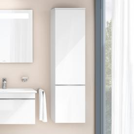 Villeroy & Boch Venticello tall unit with 1 door front glossy white / corpus glossy white, chrome handle
