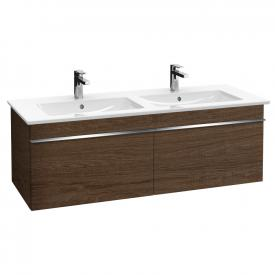 Villeroy & Boch Venticello vanity unit for double washbasin with 2 pull-out compartments front santana oak / corpus santana oak, chrome handles