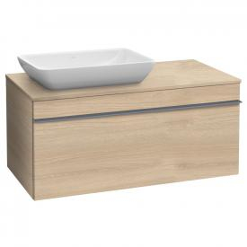 Villeroy & Boch Venticello vanity unit for countertop washbasins with 1 pull-out compartment front impresso elm / corpus impresso elm, grey handle