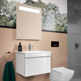 Villeroy & Boch Venticello washbasin with vanity unit and More to See 14 mirror front glossy white/mirrored / corpus glossy white/matt aluminium