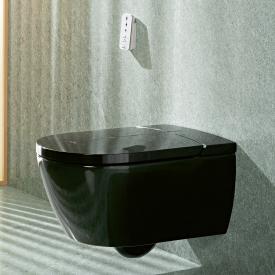 Villeroy & Boch ViClean I100 WC lavant, bride plate, DirectFlush, avec abattant noir glossy