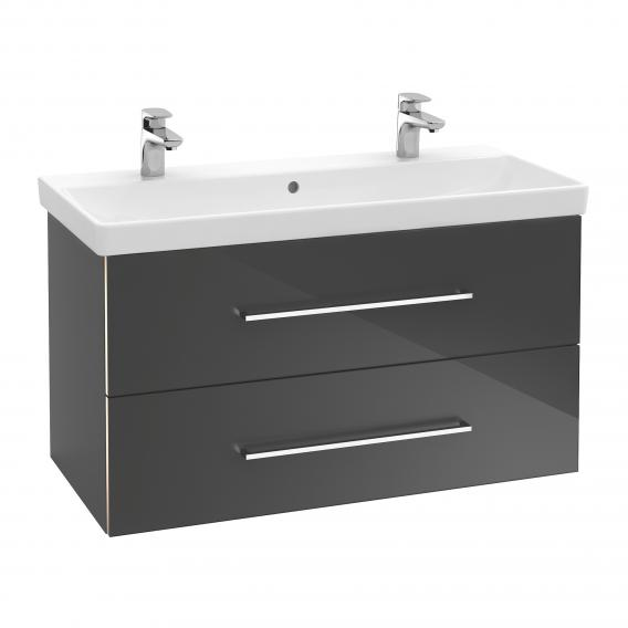 Villeroy & Boch Avento double vanity washbasin white, with CeramicPlus, with overflow
