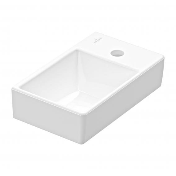 Villeroy & Boch Avento hand washbasin white, with CeramicPlus