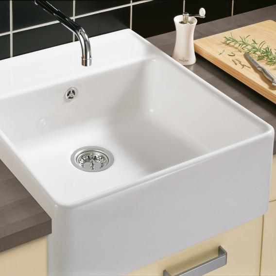 Villeroy & Boch butler single-bowl sink white alpine high gloss/position borehole 2