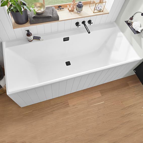Villeroy & Boch Collaro rectangular bath white, waste/overflow set chrome