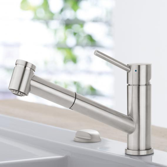 Villeroy & Boch Como Switch single lever kitchen mixer stainless steel