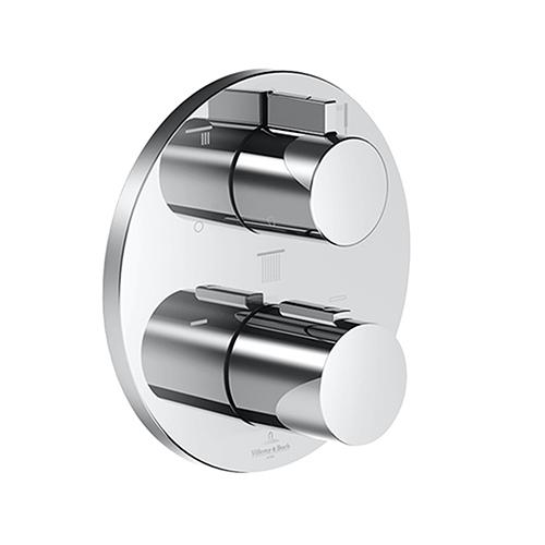Villeroy & Boch concealed thermostat with three-way volume control chrome
