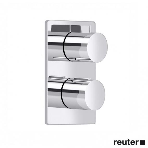 Villeroy & Boch Cult concealed thermostat with two-way volume control chrome