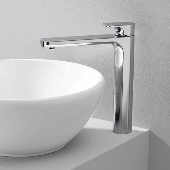Villeroy & Boch Cult single lever basin mixer with raised pillar without waste set, chrome