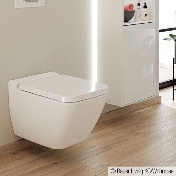 Villeroy & Boch Finion wall-mounted washdown toilet, open flush rim, DirectFlush white, with CeramicPlus
