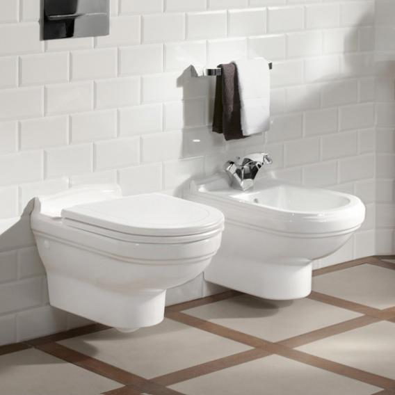 Villeroy & Boch Hommage wall-mounted washdown toilet white, with CeramicPlus