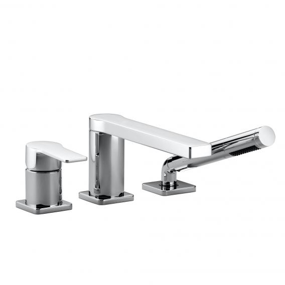 Villeroy & Boch Just tile-mounted, three hole, single lever bath mixer