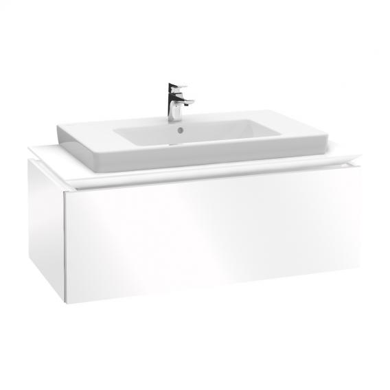 Villeroy & Boch Legato vanity unit with 1 pull-out compartment front glossy white / corpus glossy white