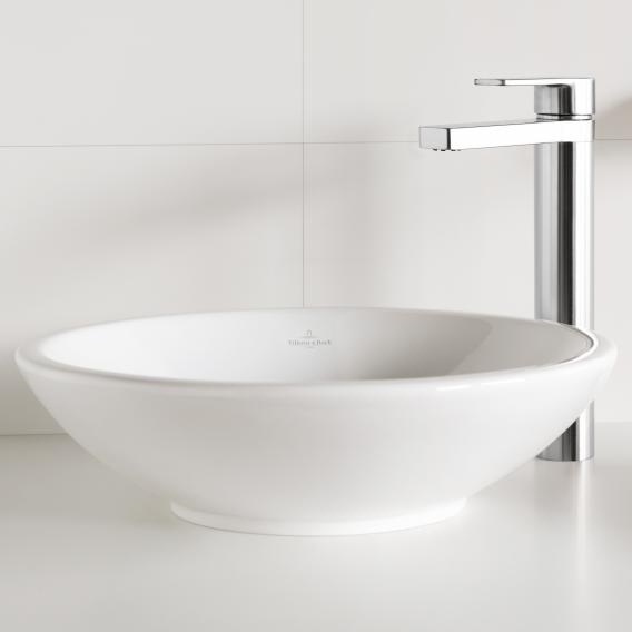 Villeroy & Boch Loop & Friends countertop washbasin, round white, with CeramicPlus, without overflow