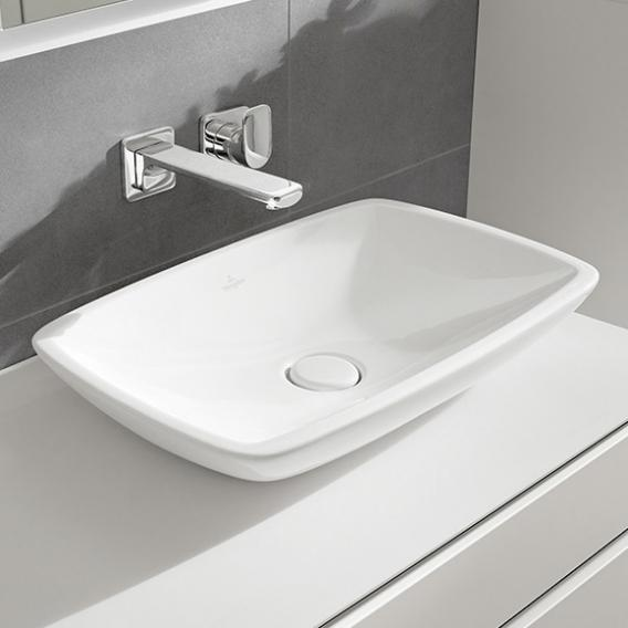 Villeroy & Boch Loop & Friends countertop basin, square white, with CeramicPlus, with overflow