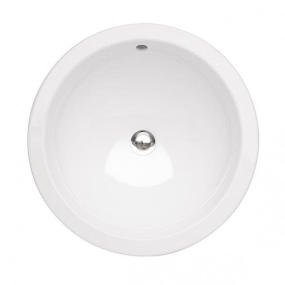 Villeroy & Boch Loop & Friends drop-in basin, round white, with CeramicPlus, with overflow
