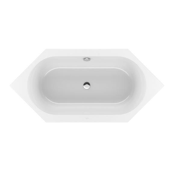 Villeroy & Boch Loop & Friends Duo hexagonal bath, built-in white