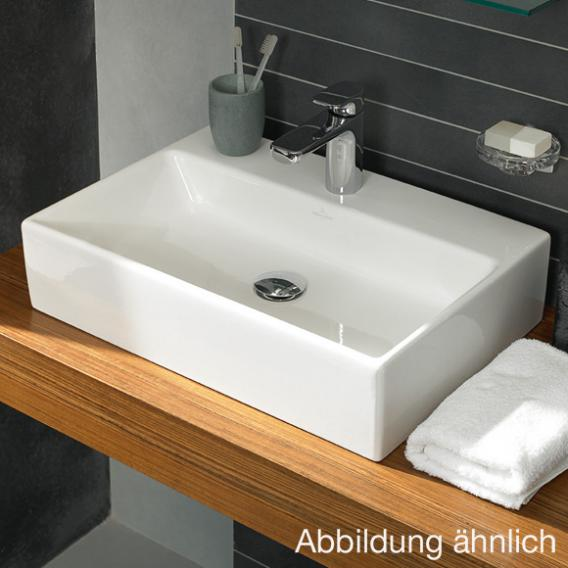 Villeroy & Boch Memento countertop washbasin white, with CeramicPlus, with 1 tap hole, with overflow