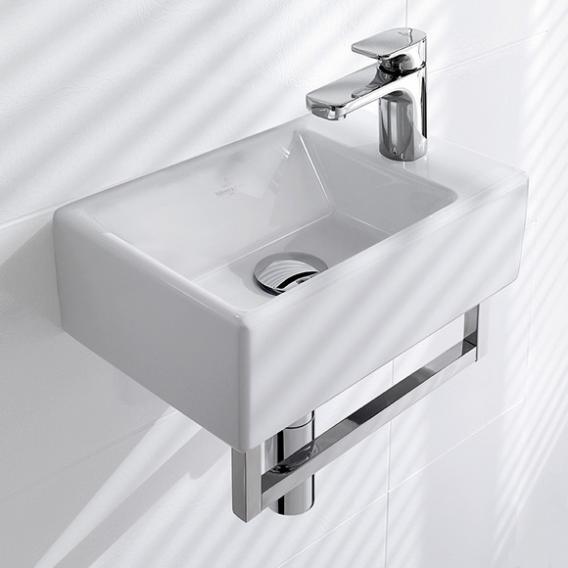 Villeroy & Boch Memento hand washbasin white, with CeramicPlus, ungrounded