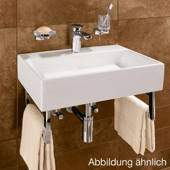 Villeroy & Boch Memento washbasin white, with CeramicPlus, with 1 tap hole, ungrounded, with overflow