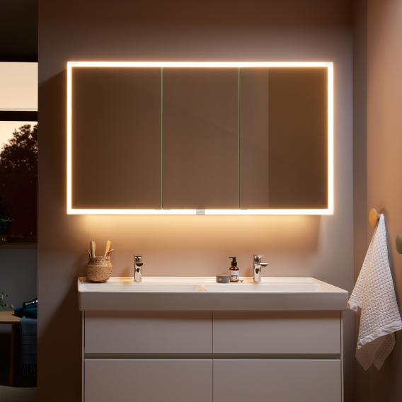 Villeroy & Boch My View Now mounted mirror cabinet with LED lighting with 3 doors with sensor dimmer
