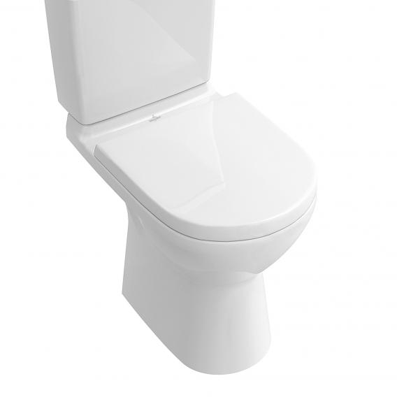 Villeroy & Boch O.novo close-coupled, floorstanding washdown toilet, open rim white, with CeramicPlus