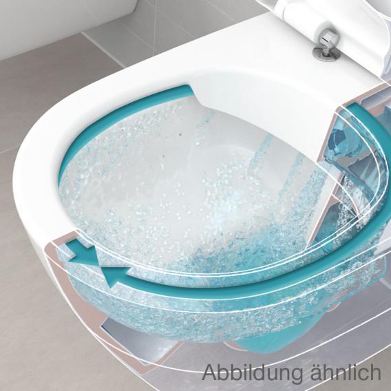 Villeroy & Boch O.novo close-coupled, floorstanding washdown toilet rimless, white, with CeramicPlus
