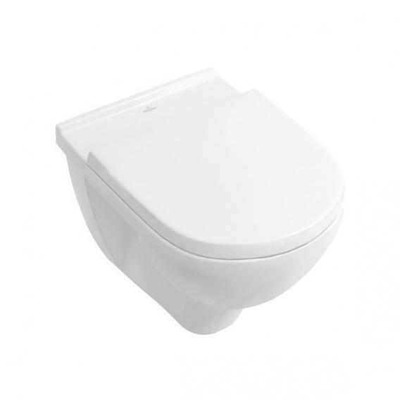Villeroy & Boch O.novo Combi-Pack wall-mounted washdown toilet, open rim white, with CeramicPlus