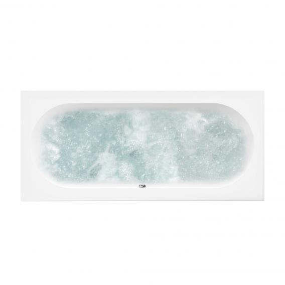 Villeroy & Boch O.novo Duo rectangular whirlbath white, with CombiPool Comfort, with bath filler