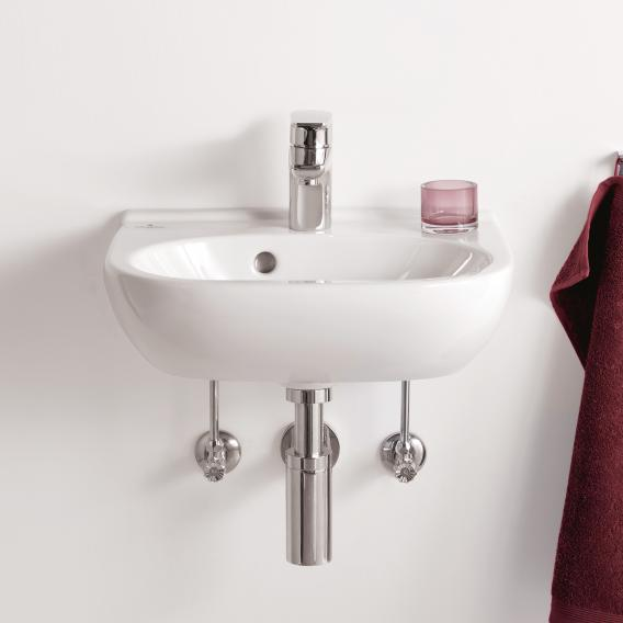 Villeroy & Boch O.novo hand washbasin compact white, with CeramicPlus, with 1 tap hole, with overflow