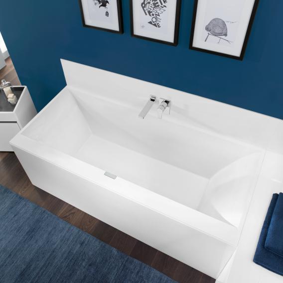 Villeroy & Boch Squaro Edge 12 rectangular bath, built-in white