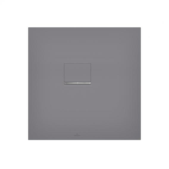 Villeroy & Boch Squaro Infinity shower tray for corner installation, cut on the short side long & short side cut, anthracite