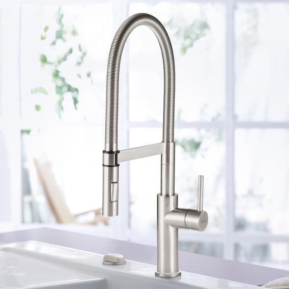 Villeroy & Boch Steel Expert single lever kitchen mixer