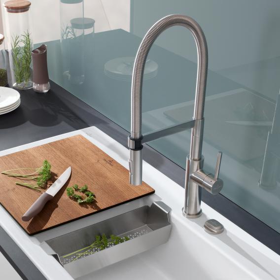926500LC Villeroy /& Boch Steel Expert Stainless Steel Kitchen Sink Mixer Tap