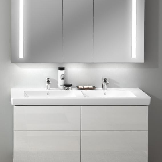 Villeroy & Boch Subway 2.0 double vanity washbasin white, with CeramicPlus, with overflow