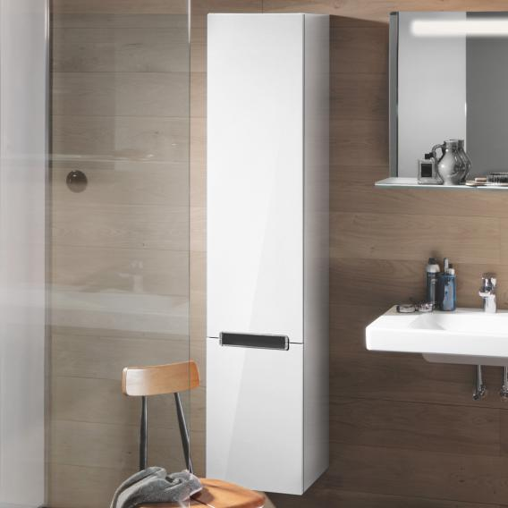 Villeroy & Boch Subway 2.0 tall unit with 2 doors front glossy white / corpus glossy white, chrome handle