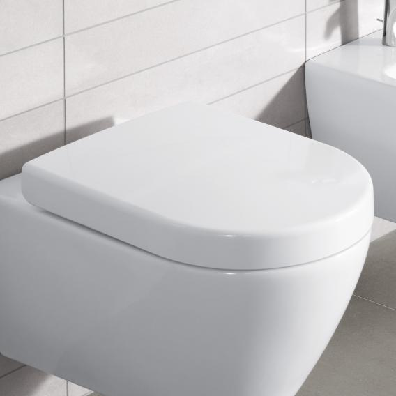 Villeroy & Boch Subway 2.0 toilet seat, removable white, with soft close