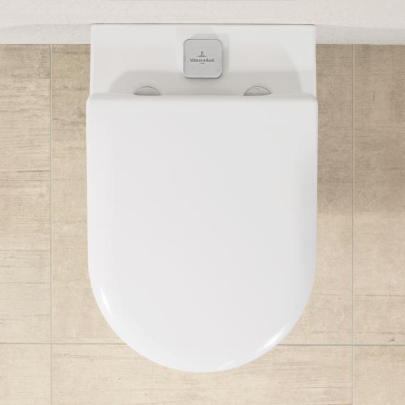 Villeroy & Boch Subway 2.0 ViFresh wall-mounted washdown toilet, open flush rim, DirectFlush white, with CeramicPlus and AntiBac