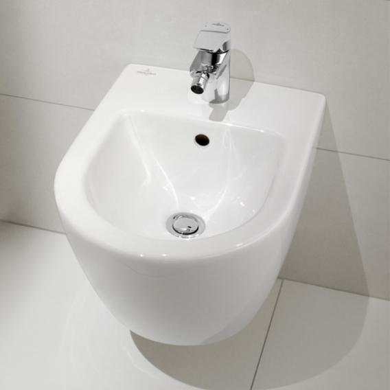 Villeroy & Boch Subway 2.0 wall-mounted bidet compact white, with CeramicPlus