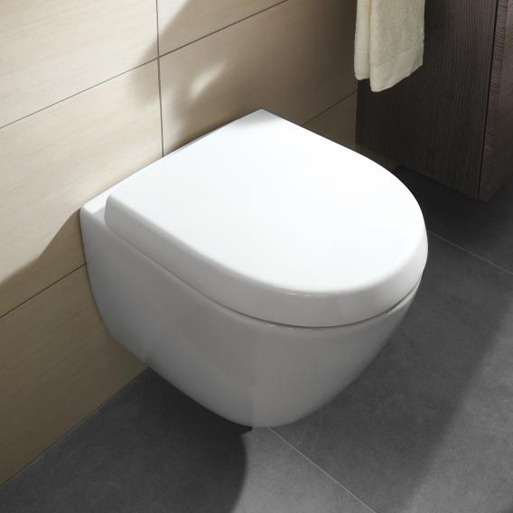 Villeroy & Boch Subway 2.0 wall-mounted washdown toilet Compact open rim white, with CeramicPlus