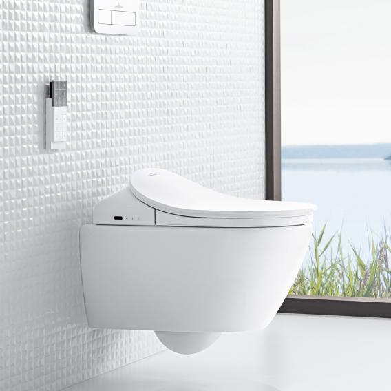 Villeroy & Boch Subway 2.0 wall-mounted washdown toilet DirectFlush with ViClean-L4 toilet seat Combi-Pack white, with CeramicPlus