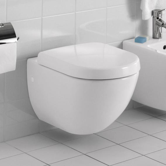 Villeroy & Boch Subway wall-mounted washdown toilet white, with CeramicPlus