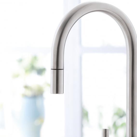 Villeroy & Boch Umbrella hand shower for single lever kitchen mixer stainless steel