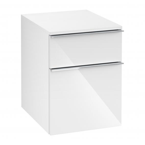 Villeroy & Boch Venticello add-on unit with 2 pull-out compartments front glossy white / corpus glossy white, chrome handles