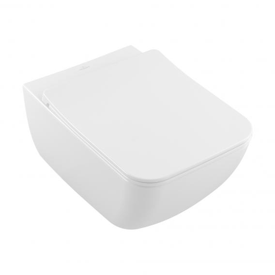 Villeroy & Boch Venticello Combi-Pack wall-mounted washdown toilet, open rim white, with CeramicPlus
