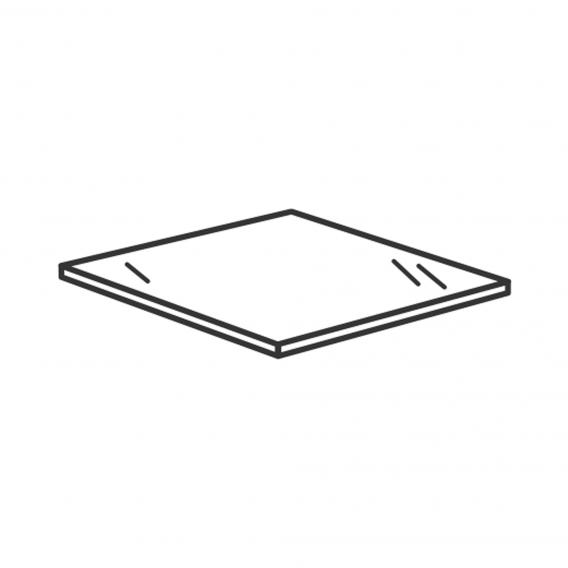 Villeroy & Boch Venticello glass cover plate glossy white