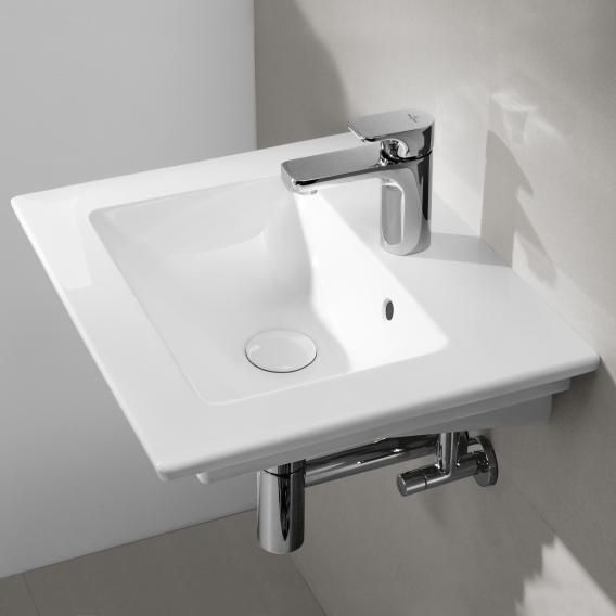 Villeroy & Boch Venticello hand washbasin white, with CeramicPlus, with 1 tap hole