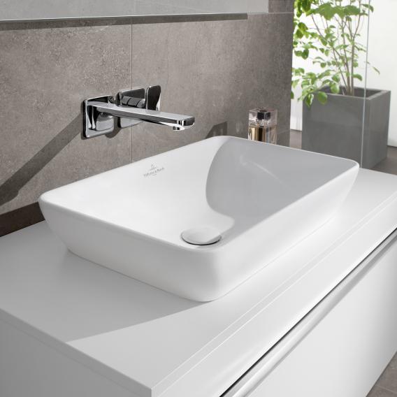 Villeroy & Boch Venticello semi-recessed countertop washbasin white, with CeramicPlus