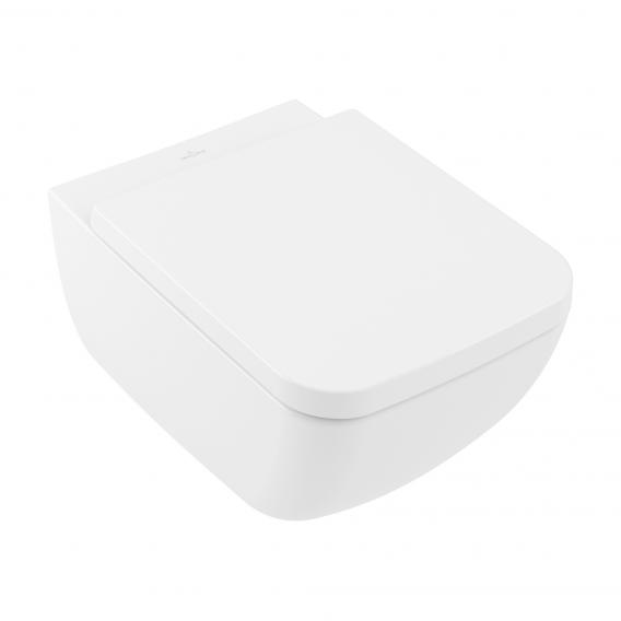 Villeroy & Boch Venticello toilet seat, removable, with soft close stone white